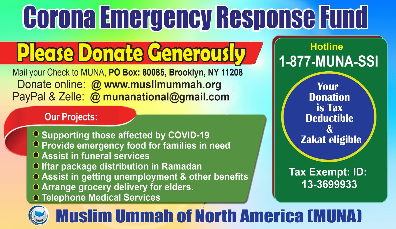 Corona Emargency response fund