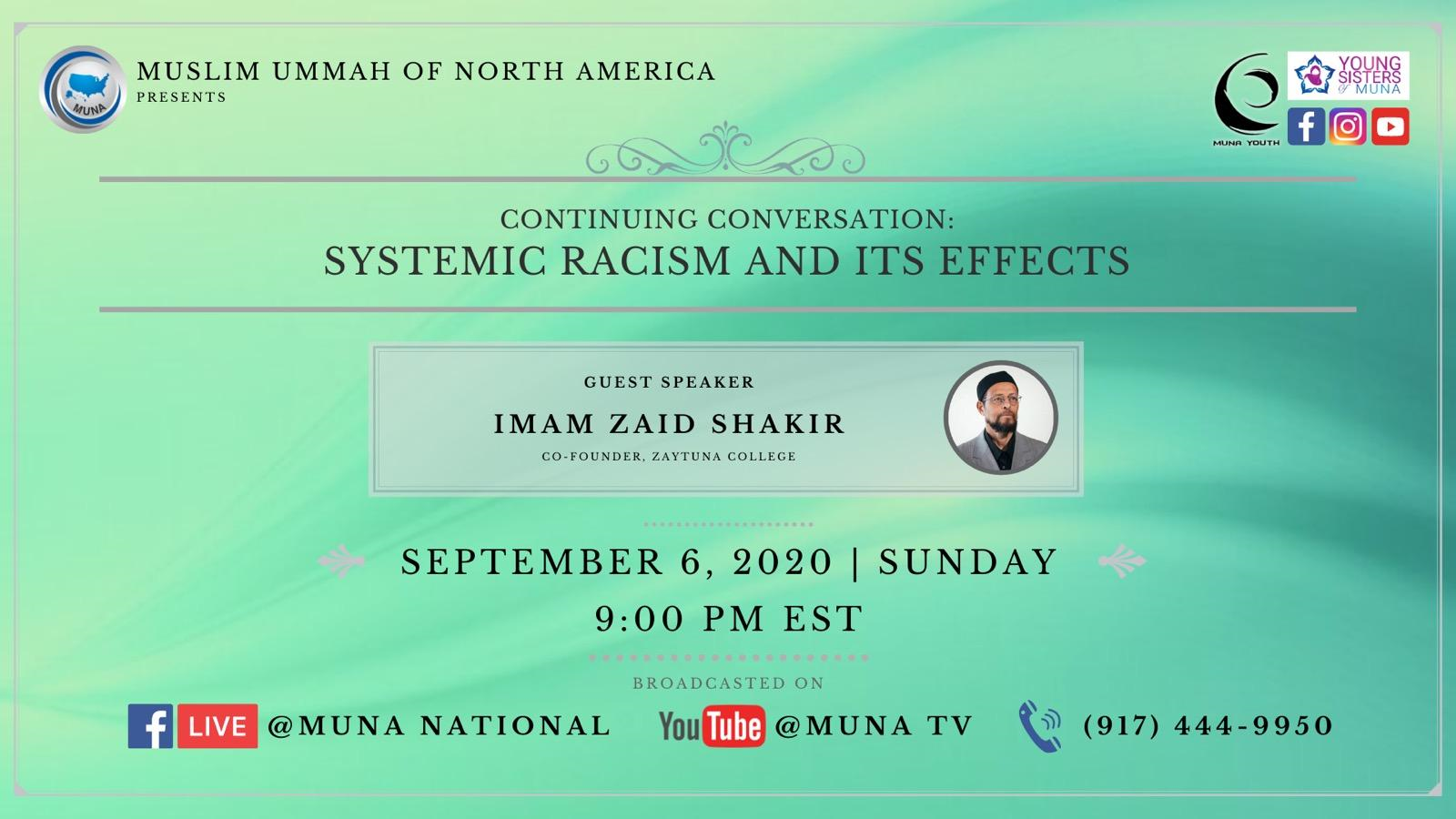 Topic – Continuing Conversation: Systemic Racism and Its Effects