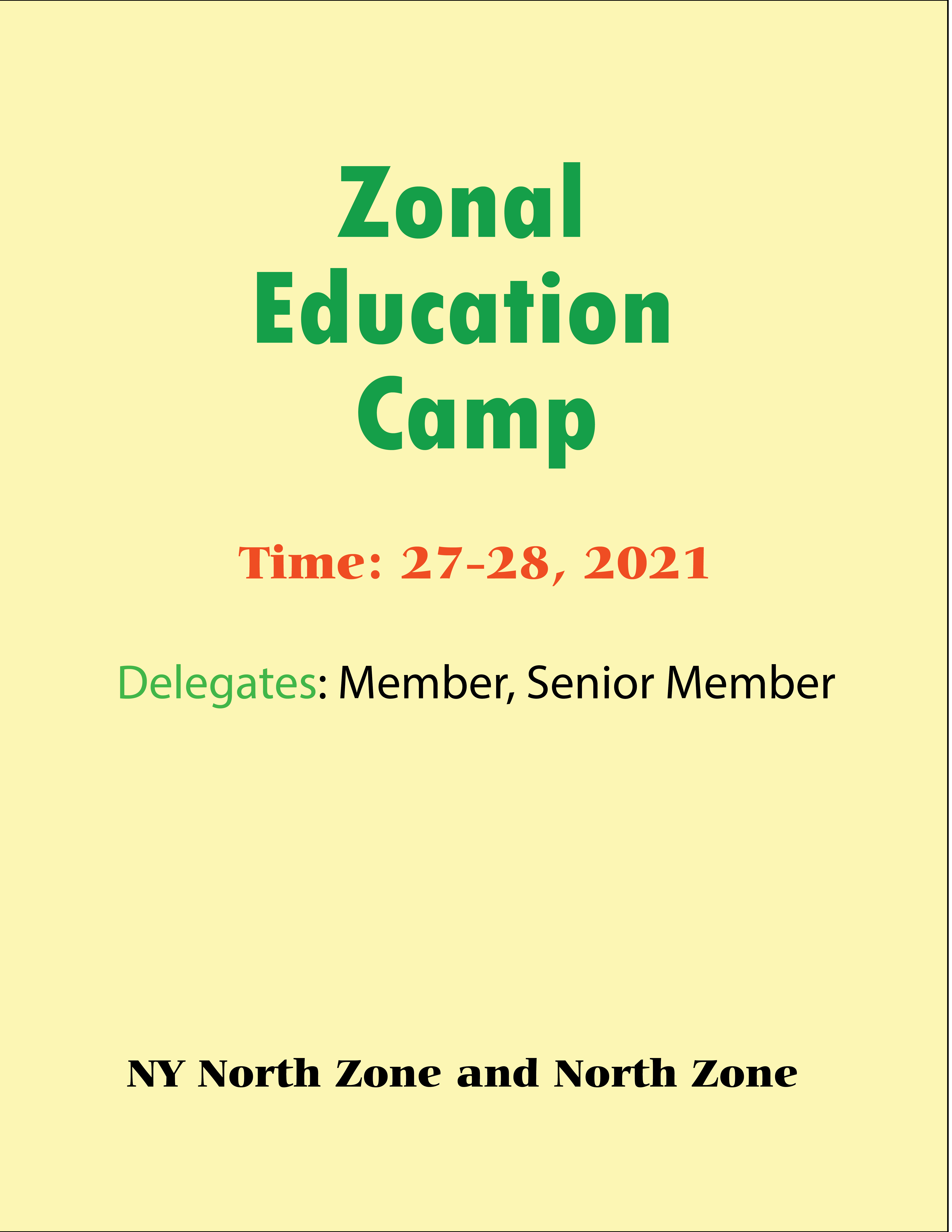 Zonal Education Camp